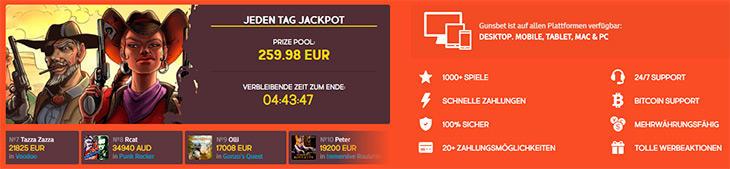 Gibt es auch eine mobile Version des Gunsbet Casinos?