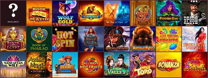 Welches Angebot an Online Slots gibt es im Gunsbet?