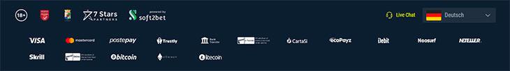 Welche Zahlungsarten werden im Rabona Online Casino angeboten?