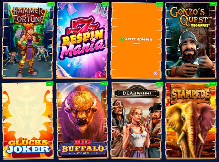 Welche Online Slots kann man im Wazamba spielen?