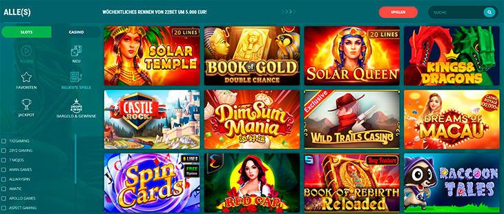 Wie groß ist das Angebot an Online Slots im 22Bet?