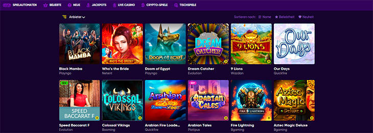 Welche Online Slots werden im Bao Casino angeboten?