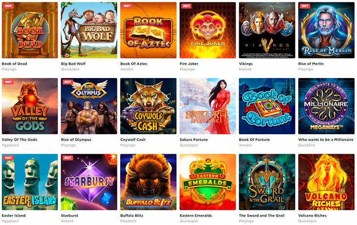 Hat das MasonSlots viele Online Slots?