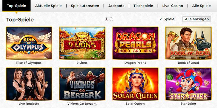Hat das Unique Casino ein großes Sortiment an Online Slots?