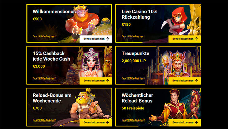 Gibt es im Zet Casino irgendwelche Bonus Angebote?