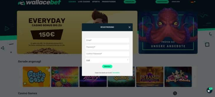 Wie meldet man sich in diesem Online Casino an?