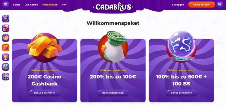 Cadabrus Willkommensbonus