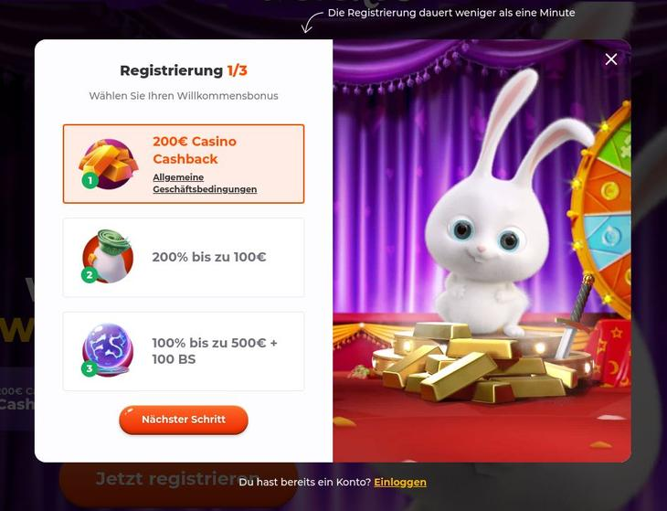 Wie meldet man sich im Cadabrus Online Casino an